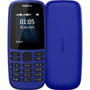Nokia 105 (2019 edition) 1.77-Inch UK SIM Free Feature Phone (Single SIM), Blue