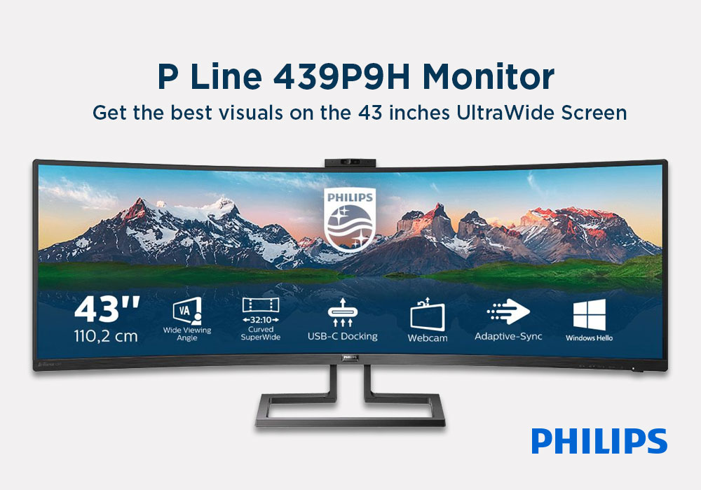 """Review: Philips P Line 439P9H/00 43.4"""" Curved LED Monitor"""